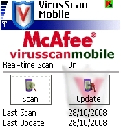 McAfee VirusScan Mobile S60v2 BETA v1.5